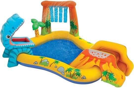 piscina infantil hinchable tobogan dino Intex 57444NP