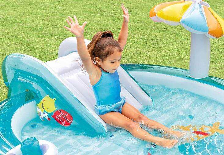 piscina inflable infantil tobogan