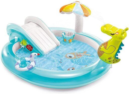 piscina inflable tobogan cocodrilo Intex 57165NP