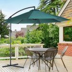 parasol excentrico jardin Outsunny reclinable
